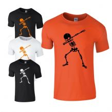 Dabbing Skeleton Kids T-shirt - Halloween  Scary Kids Costume Fancy Dress Top